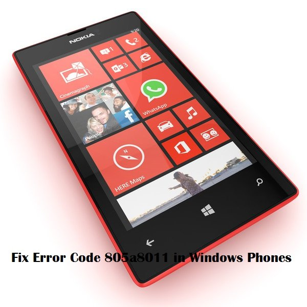error code 805a8011 in windows phones