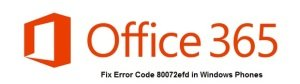error code 80072efd in windows phones