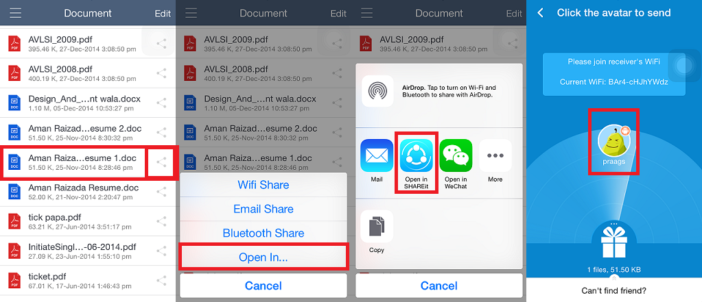 How To Share Files in iPhone Using Shareit