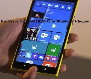 How To Fix Error Code 80188301 in Windows Phones