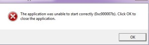 Error Code 0xc000007b in Windows