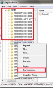 Error 1406 permissions