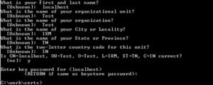 Create Self Signed Certificate Using Java Keytool
