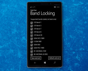 band locking supported bands