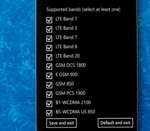 managing supported bands network