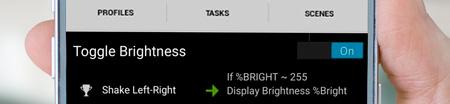toggle brightness shake android