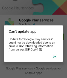 google play cant update app