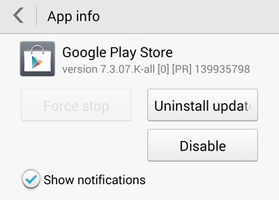 google play delete updates