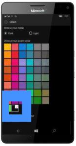 accent color windows 10 mobile