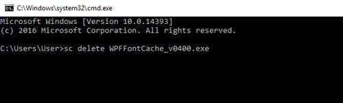 WPFFontCache_v0400.exe High CPU Load in Windows