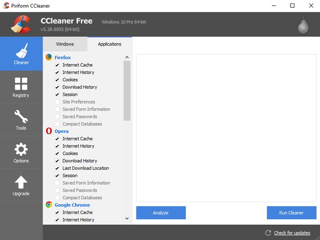 ccleaner applications