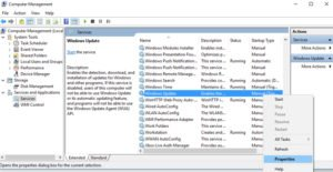 disable windows update comp manager