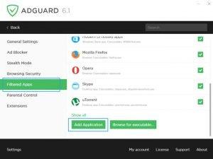 adguard remove ads skype