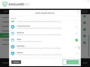 adguard remove ads skype aps