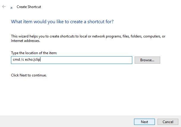 cmd echo shortcut