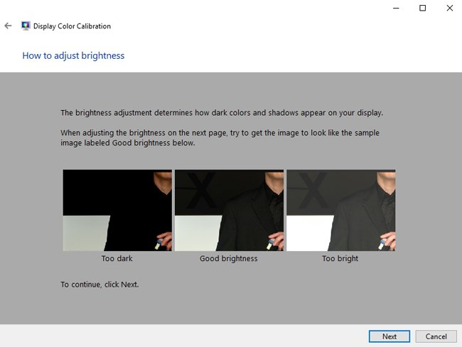 adjust brightness windows 10