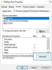 advanced FileRepository