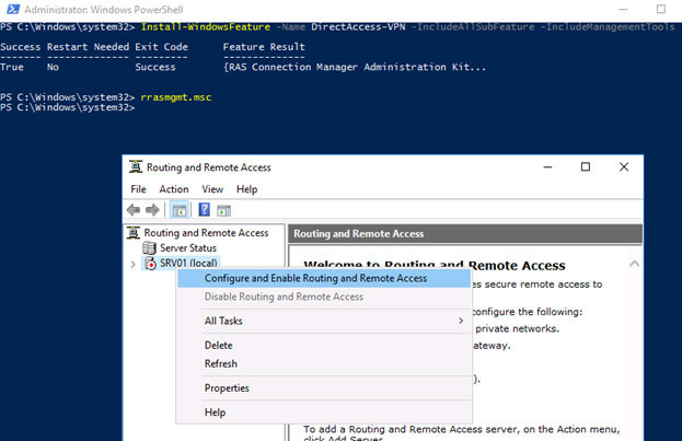install direct access VPN powershell