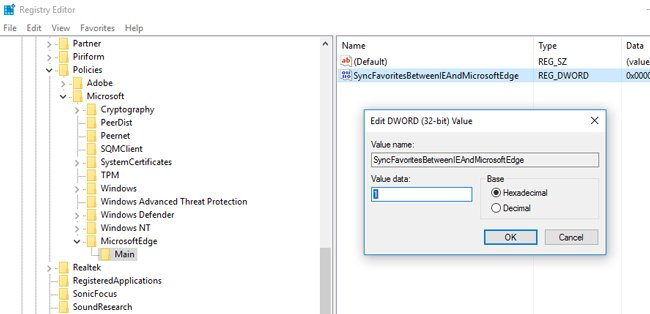microsoft edge dword value