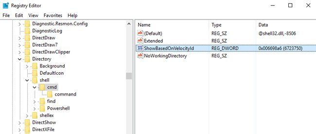 show based velocity registry