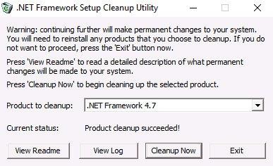 NET Framework Initialization Error Fix
