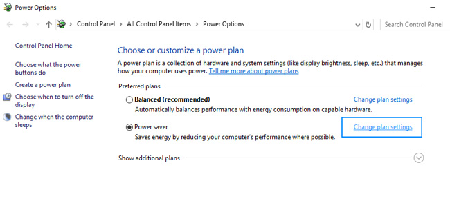 power plan wake the computer