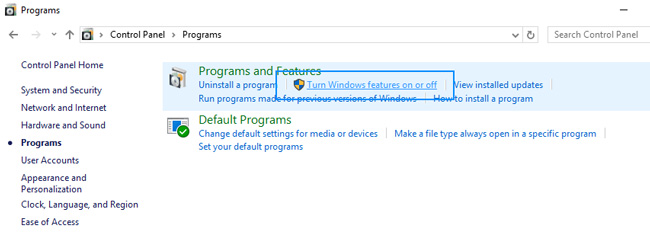 remove internet explorer windows features