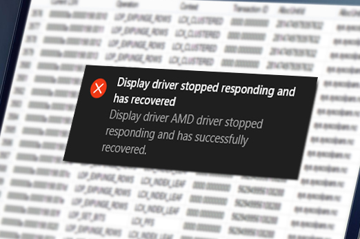 Windows 10 Amd Display Driver Stopped Responding And Has Recovered