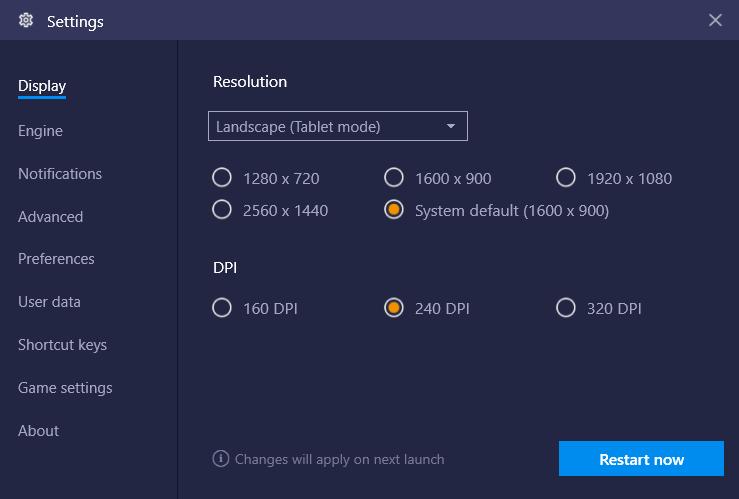 bluestacks resolution fix