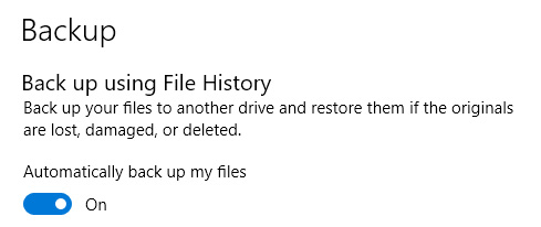 file history back up