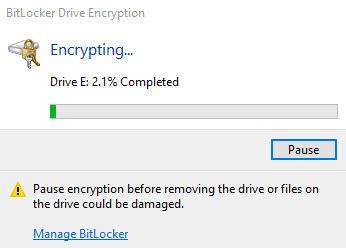 bitlocker encrypt flash drive windows 10