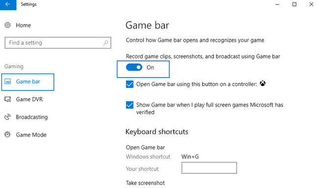windows 10 gaming mode