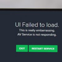 avast service not running