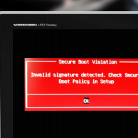 asus invalid signature detected