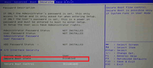 invalid signature detected. check secure boot policy in setup