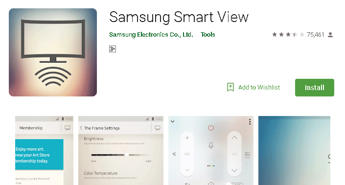 Samsung smart view remote control