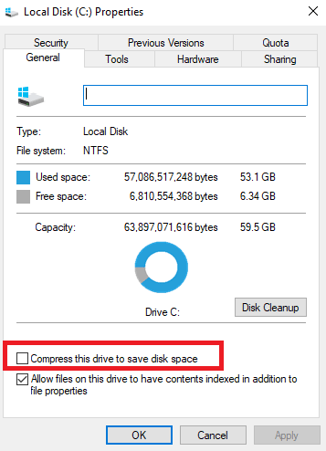 couldnt mount ISO file compress disk