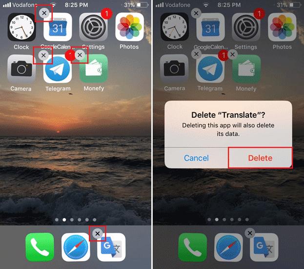 ipad uninstall app