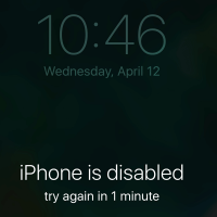 iphone is disabled cover