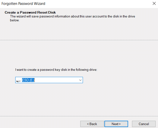password reset disk windows 10 PC