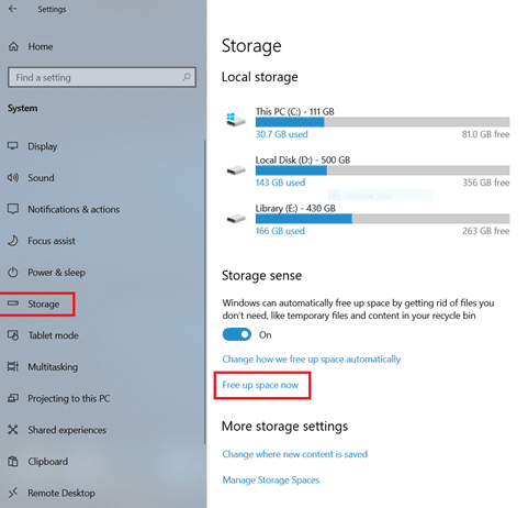 use windows 10 disk cleanup utility