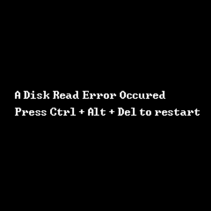 a disk read error occurred fix