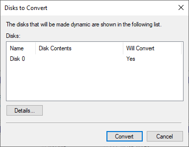 converting dynamic disc to basic
