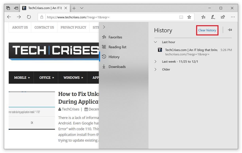 How to Delete History on Microsoft Edge?