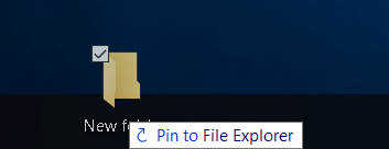 How to Pin folder to the Taskbar or Start Menu in Windows 10