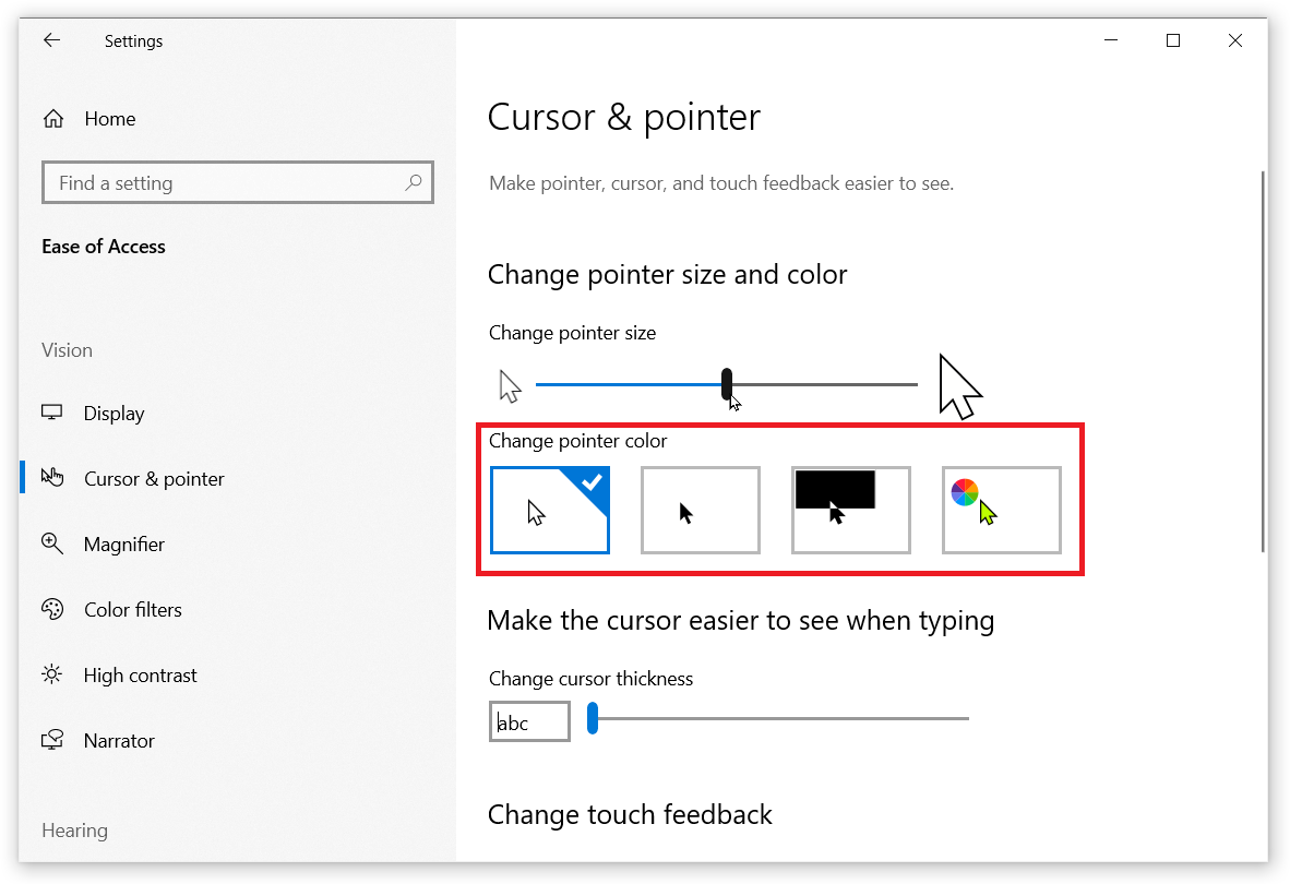 How to Change Mouse Pointer Size