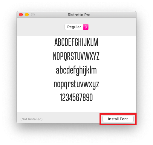 how to install fonts on mac