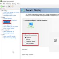 rotate screen windows