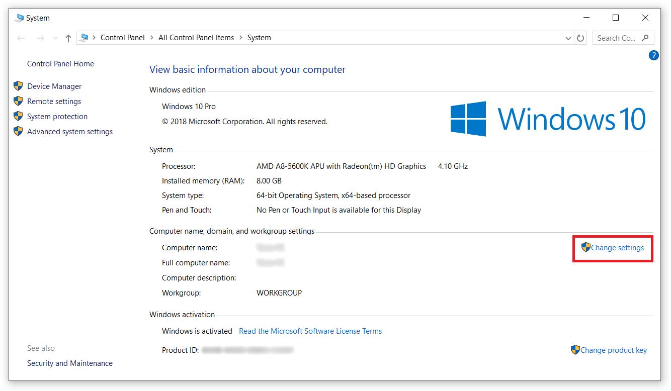 windows rename computer