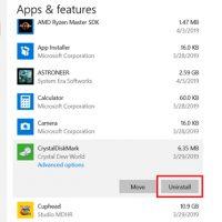 Uninstall App on Windows 10
